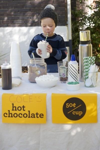 hot chocolate stand