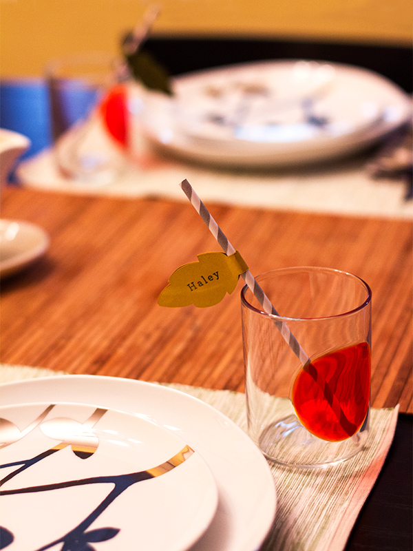 place card straws