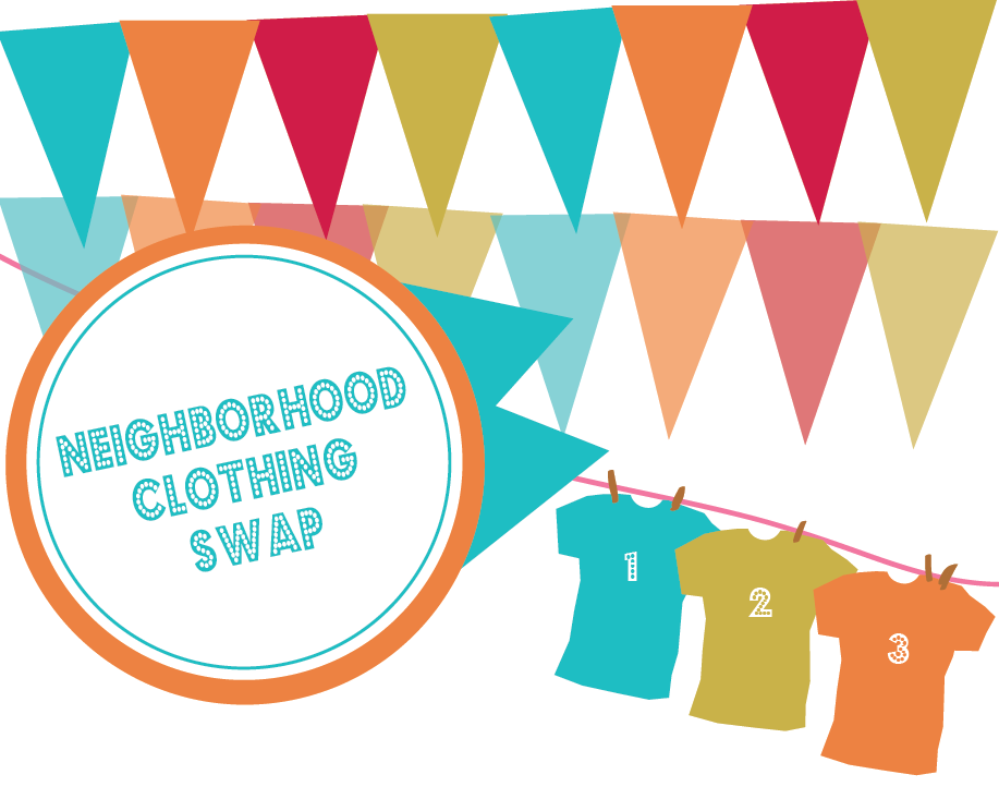 plan a neighborhood clothing swap