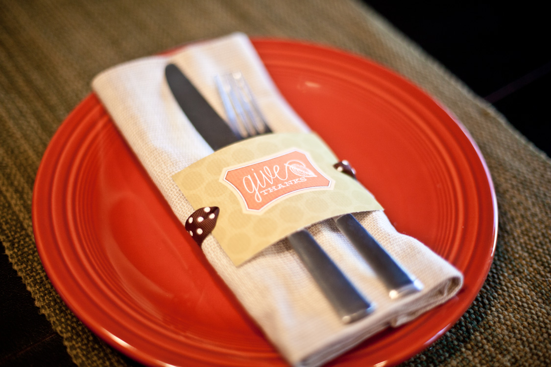 """Give Thanks"" DIY Napkin Holder"