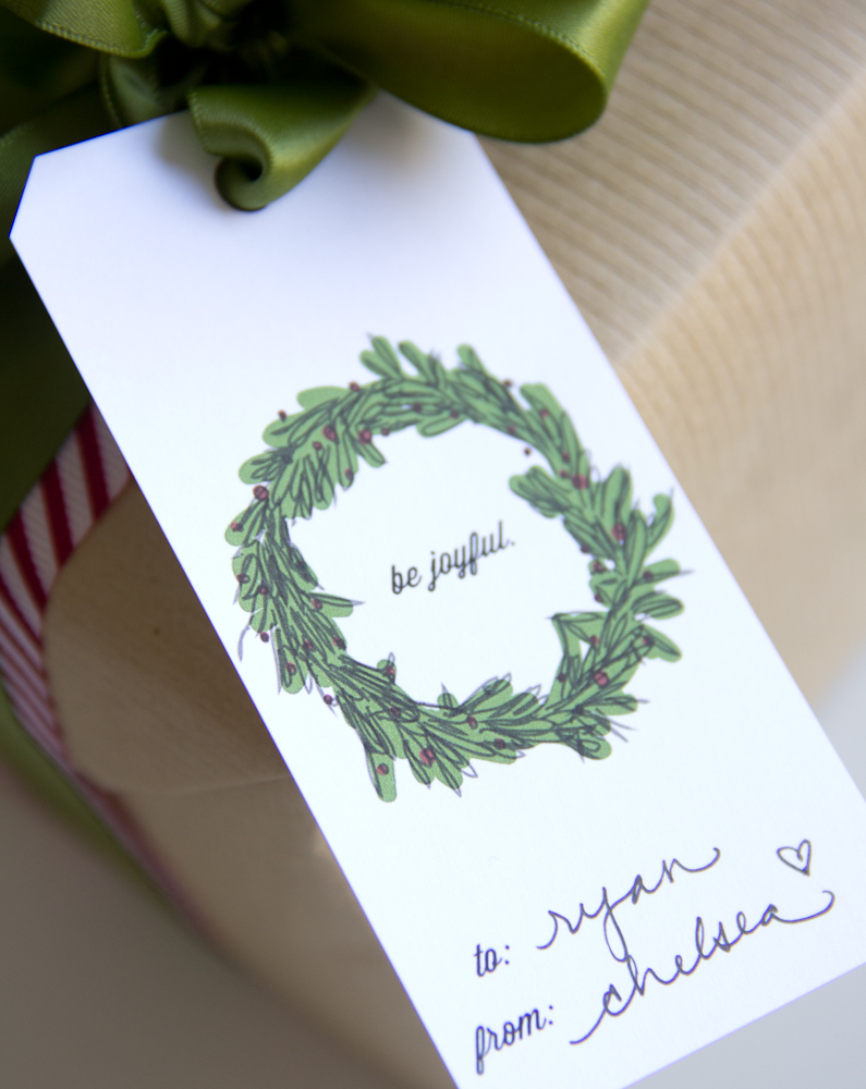 holiday gift tag download