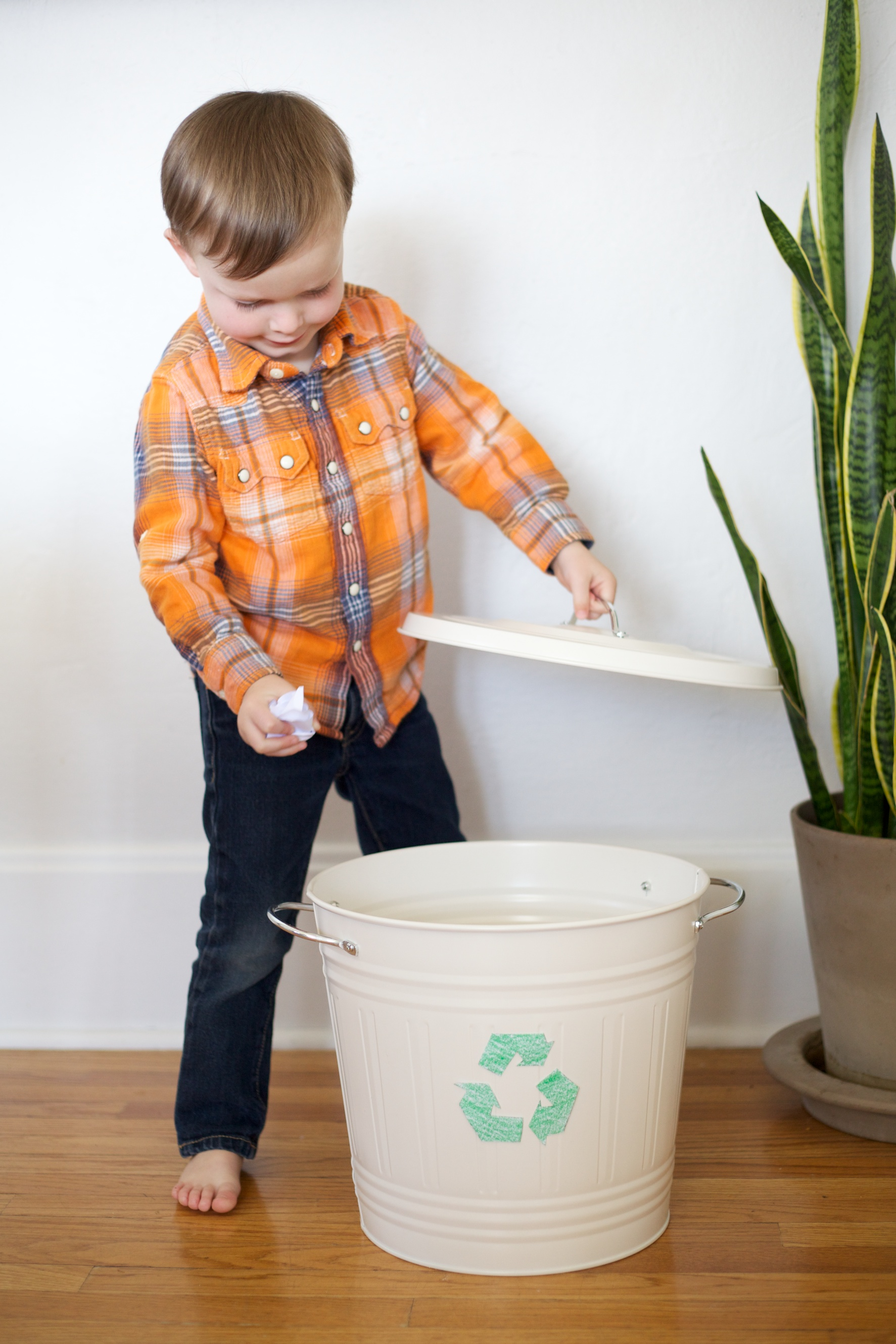 helping kids go green: recycling and repurposing