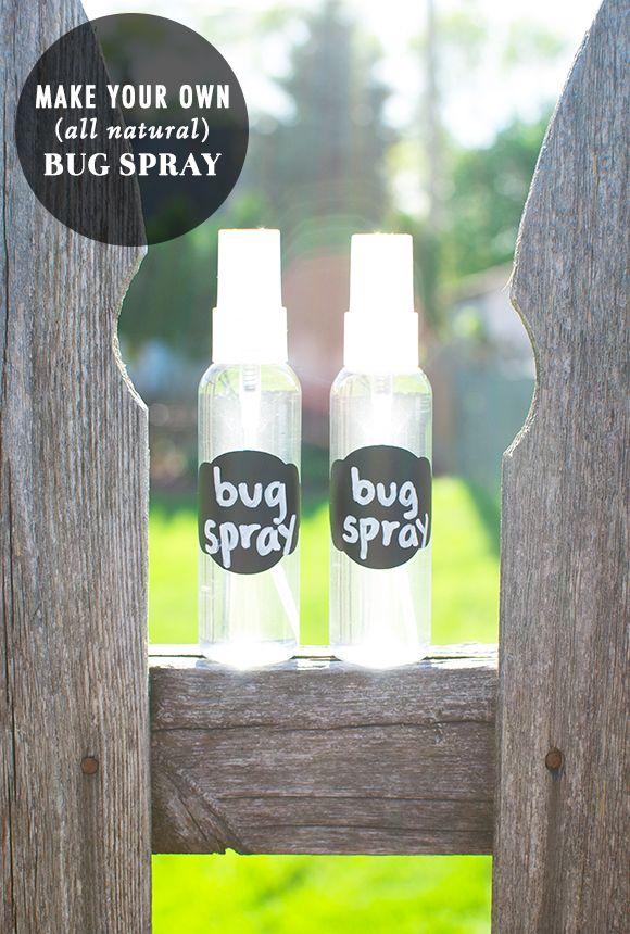 make your own diy natural bug spray