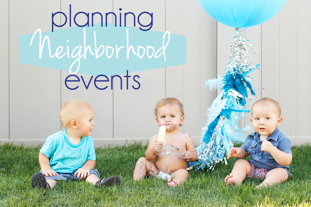 planning neighborhood events