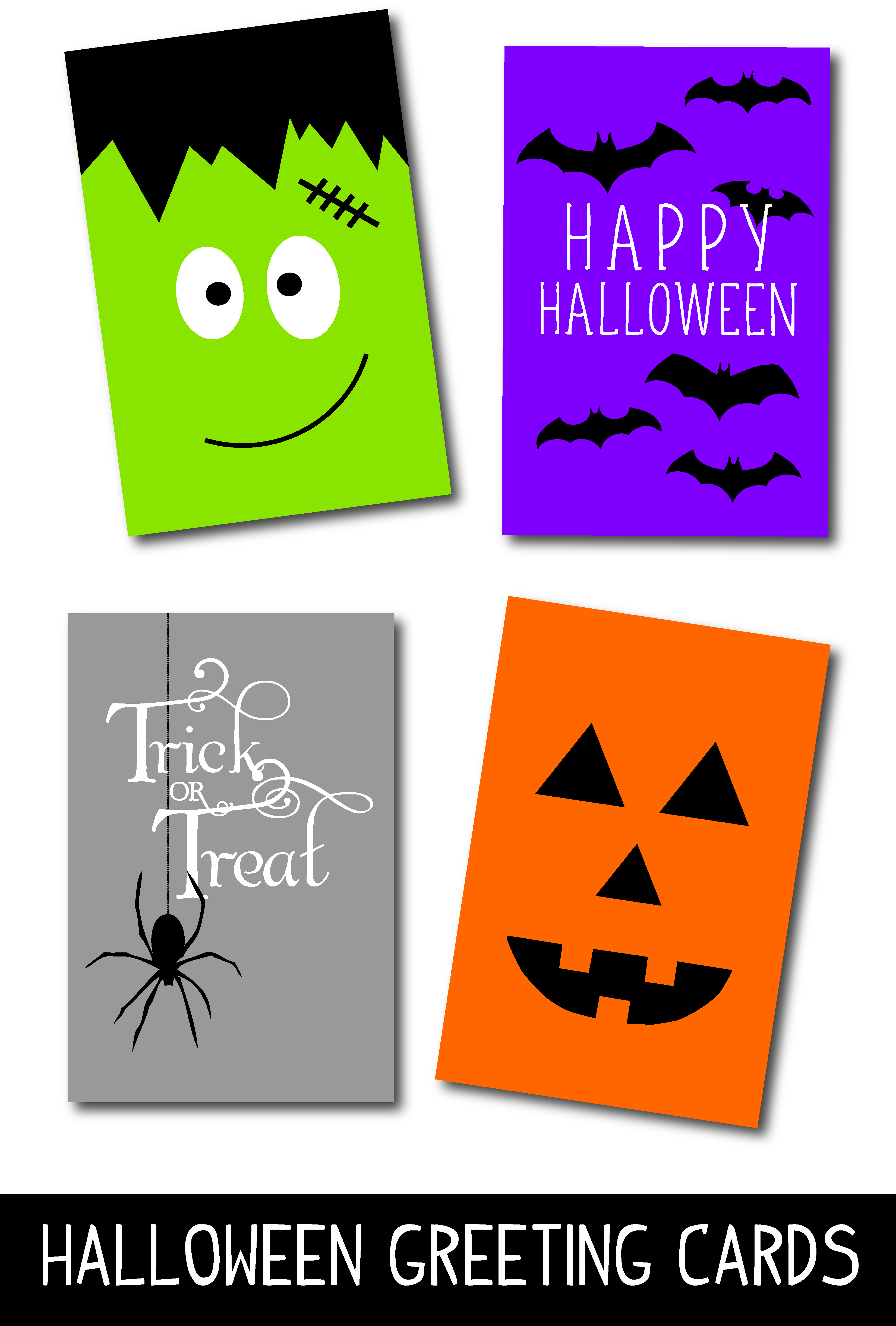 Clever image regarding printable halloween card