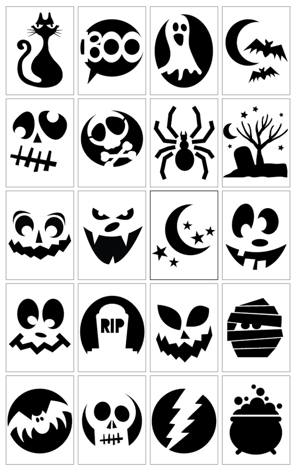 10 ways to make money on halloween sell carved pumpkins for Halloween pumpkin painting templates