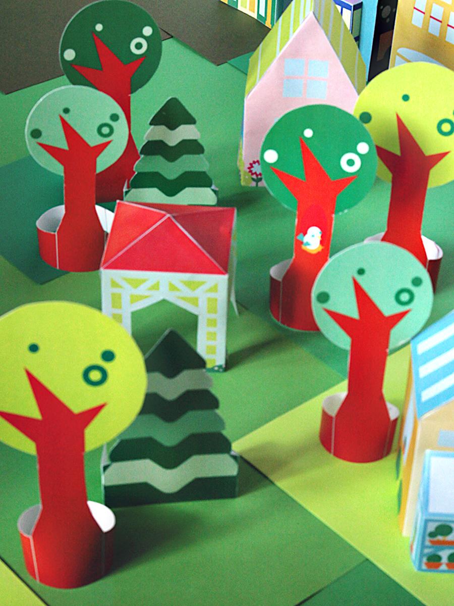 printable neighborhood—forest full of trees