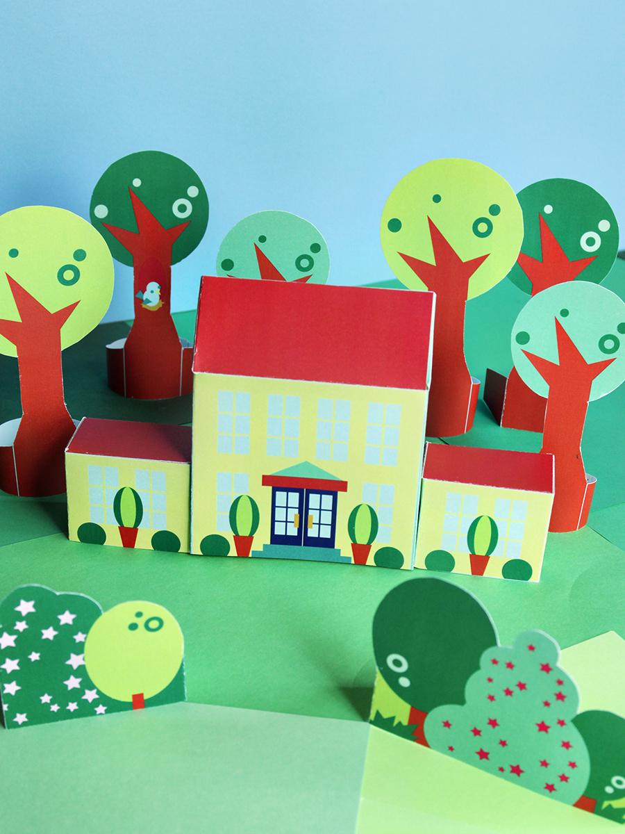 printable neighborhood—your summer mansion