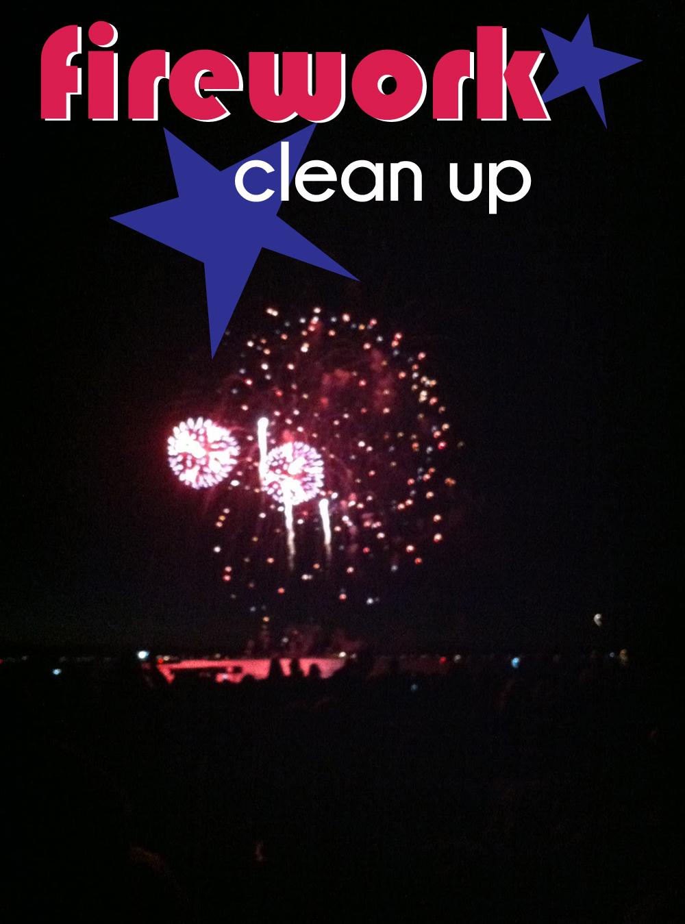 firework cleanup