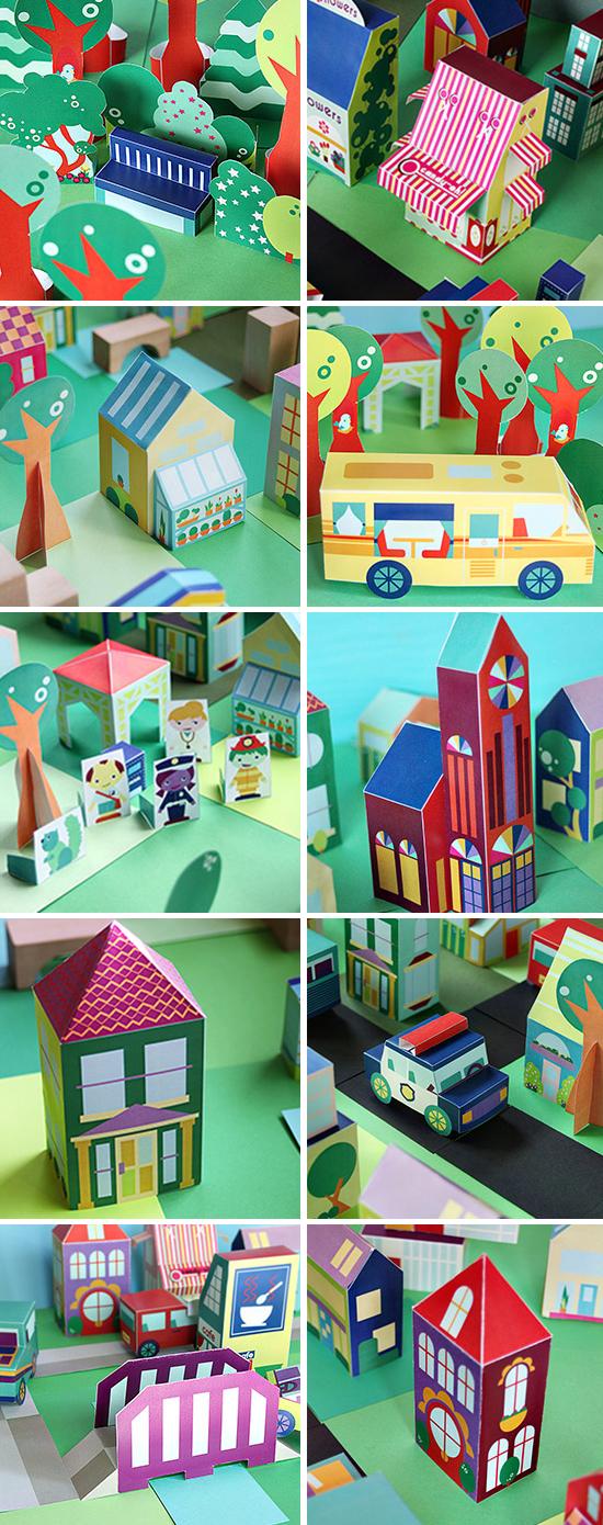 Printable neighborhood round-up