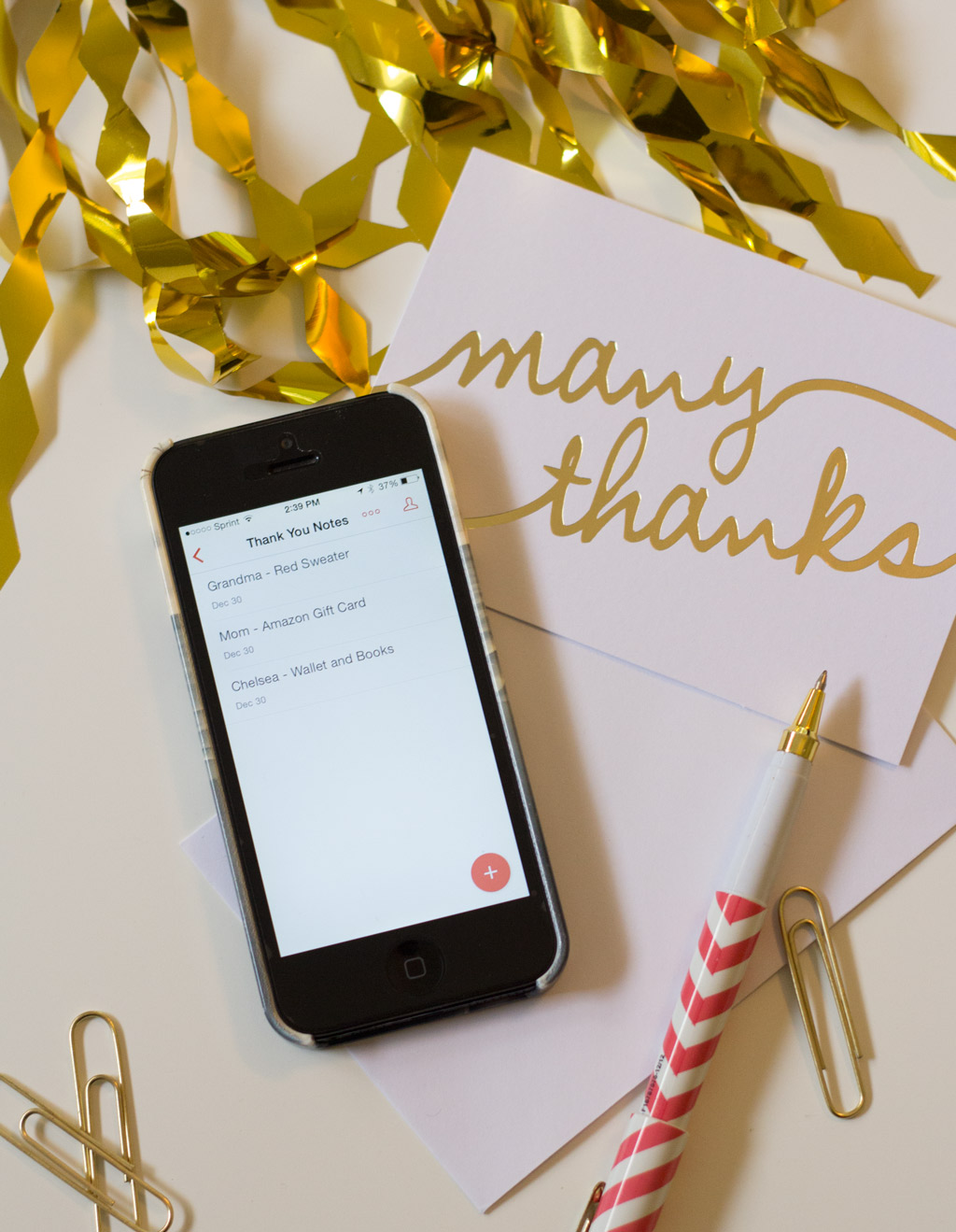 tech solutions for keeping track of thank you cards