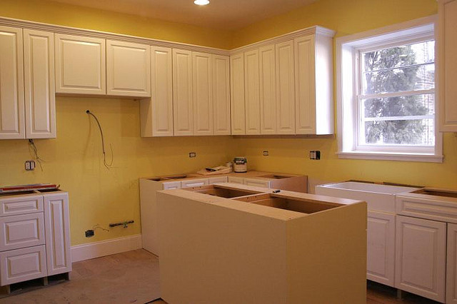 A renocated kitchen