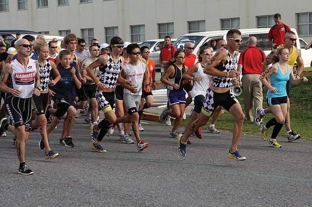 Group of runners in a race