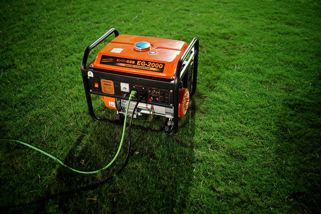 Backing up home energy with gas powered generator