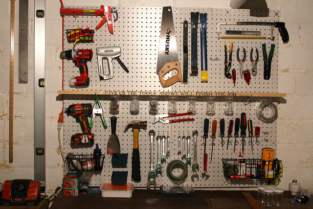 garage organization ideas pegboard - 8 Ways to Make Garage Organization Painless