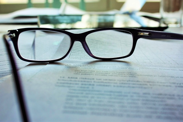 closeup of documents