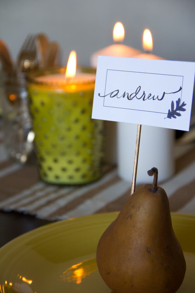 Dinner Table Place Cards