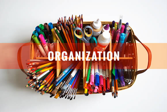 relieve stress with organization