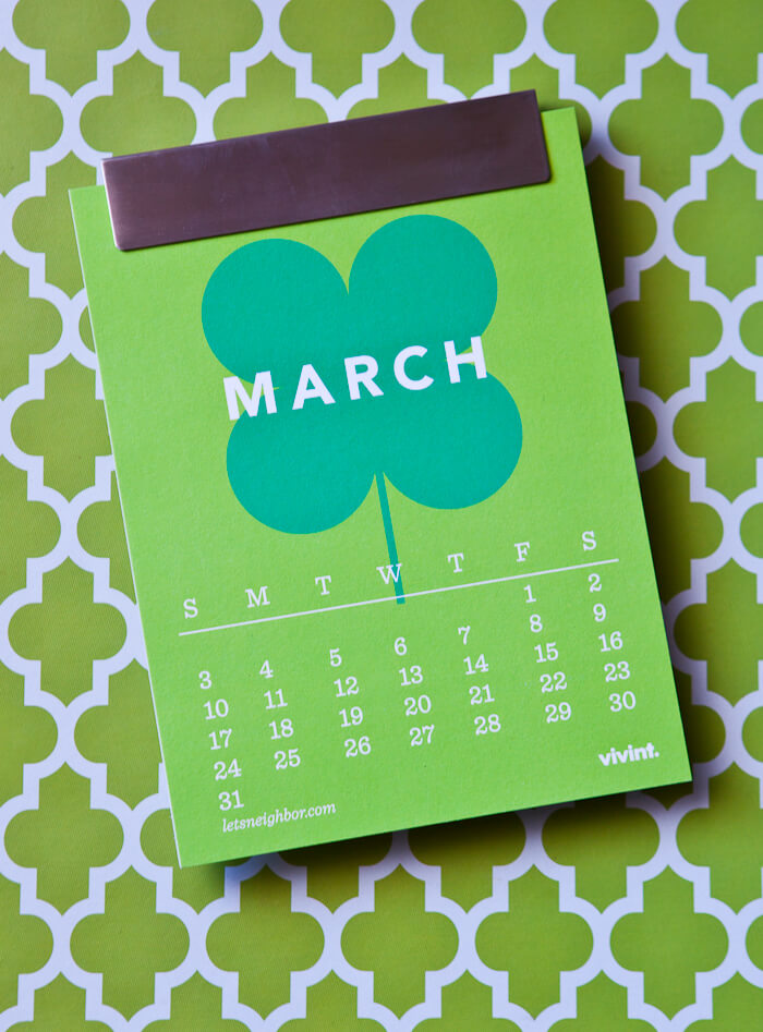 the neighborhood calendar – march