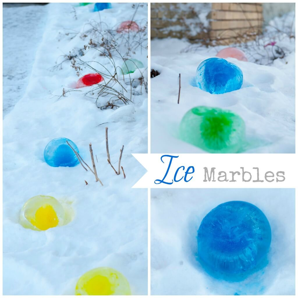 ice marbles – adding color to your curb
