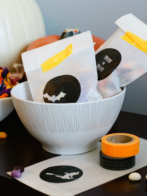 free printable halloween treat bags