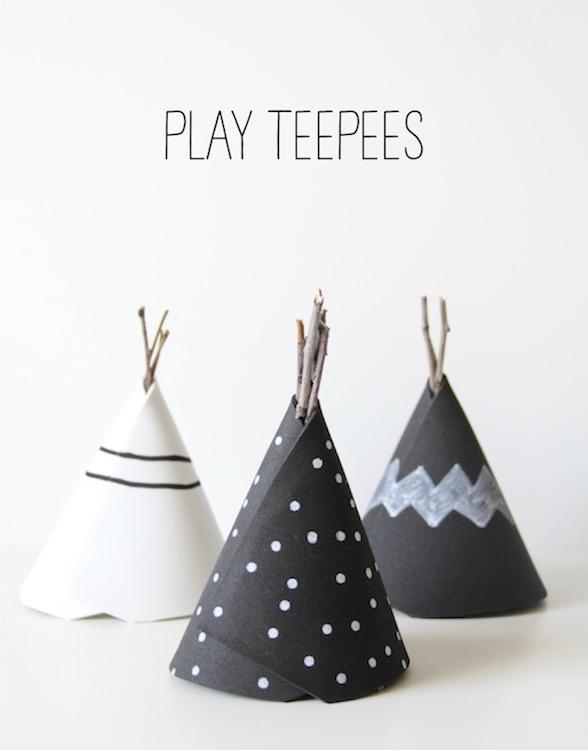 diy play teepees