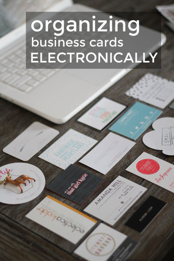 how to organize business cards electronically